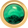 MALACHITE Gemstone, Love, Strength, Inspiration, Small Gold-Plated Stud