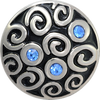 MALIBU BEACH, Medium (19mm) Silver-Plated Stud