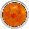 ORANGE AVENTURINE Gemstone, Inner Harmony, Luck, Opportunity, Medium Silver-Plated Stud