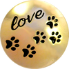 PUPPY LOVE, Medium (19mm) Gold-Plated Stud
