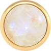RAINBOW MOONSTONE Gemstone, Spiritual Balance, Happiness, Composure, Large Gold-Plated Stud