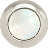 RAINBOW MOONSTONE Gemstone, Spiritual Balance, Happiness, Composure, Mini Silver-Plated Stud