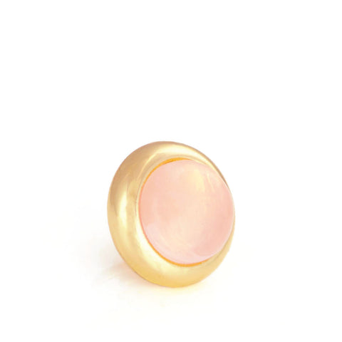 ROSE QUARTZ Gemstone, Love Stone, Purity and Innocence Small Gold-Plated Stud
