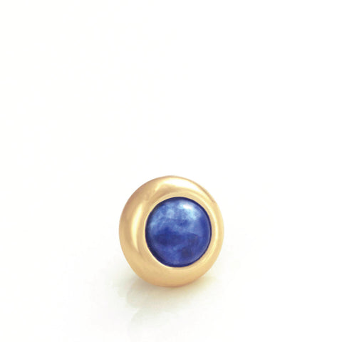 SODALITE Gemstone, Logic, Rationality, Truth, Mini Gold-Plated Stud
