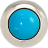 TURQUOISE Gemstone, The Master Healing Stone, Mini Silver-Plated Stud