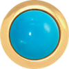 TURQUOISE Gemstone, The Master Healing Stone, Small Gold-Plated Stud