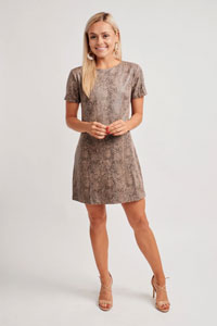 beige boutique shift dress