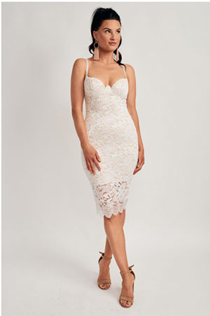 Joviana Body Con Lace Dress