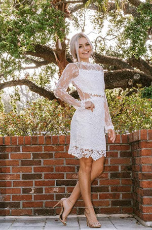 The Bella Floral Lace Mini Dress