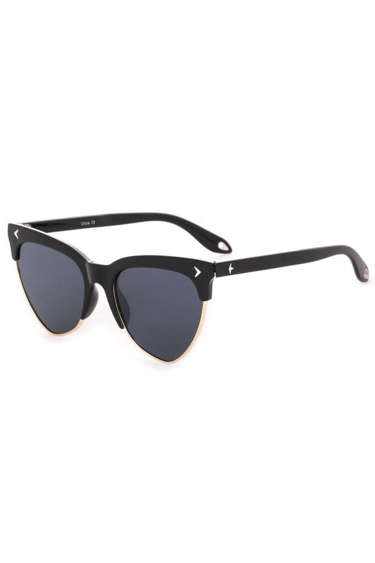 Alyssa Cat Eye Sunglasses Black