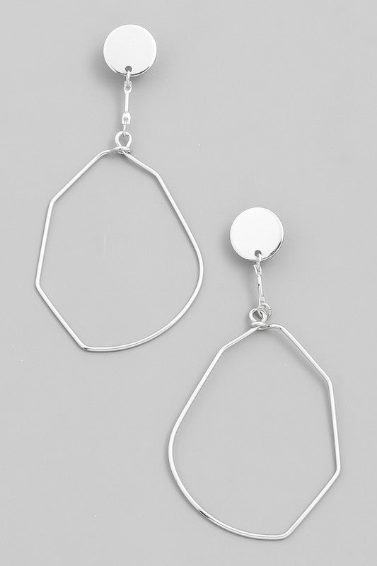 Monica Silver Earrings