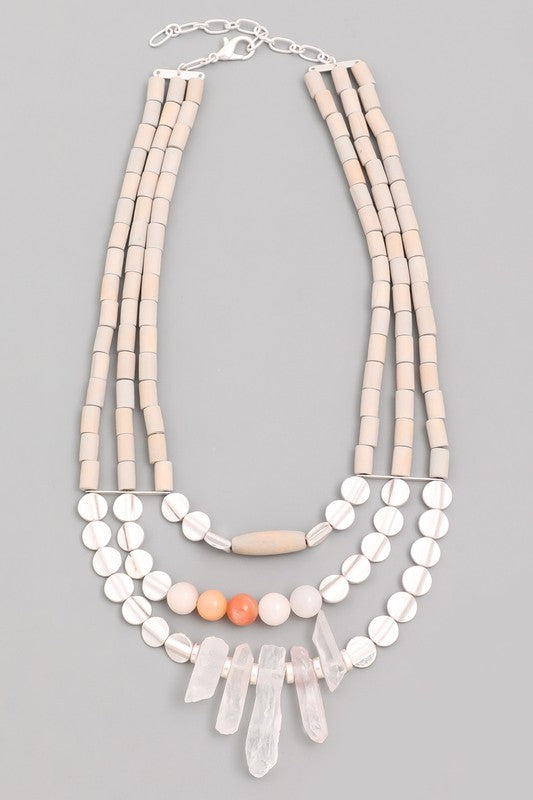 Charlie Grey Statement Necklace