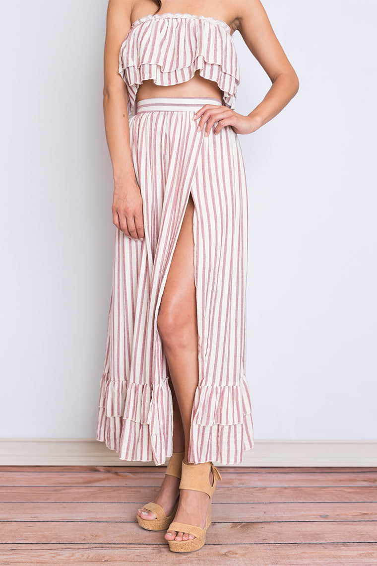 Perdita Striped Skirt