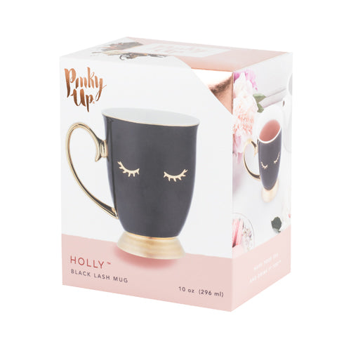 Holly Black Lash Mug