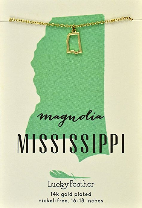 State Necklace Mississippi, Gifts - State Love - {a} haley boutique
