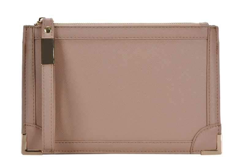 Isabel Wristlet Clutch Tan