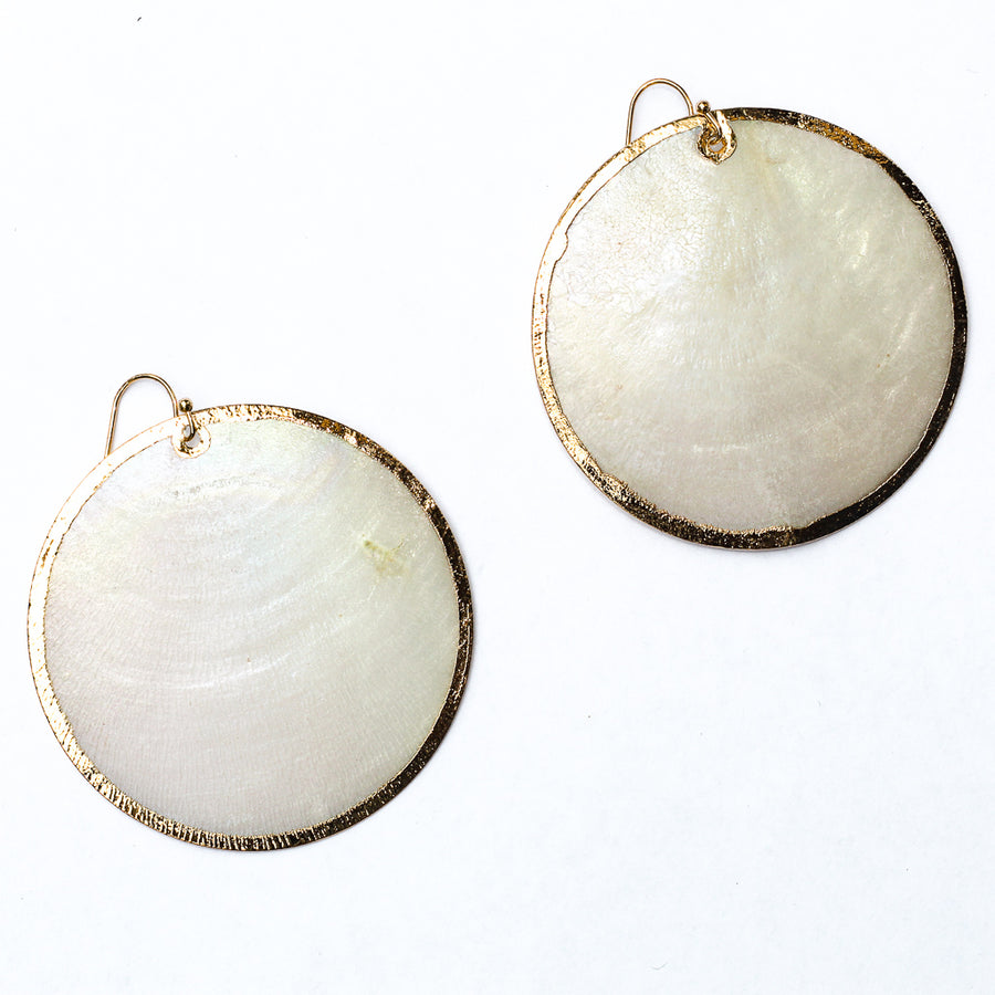 Amara Circle Glass Earrings