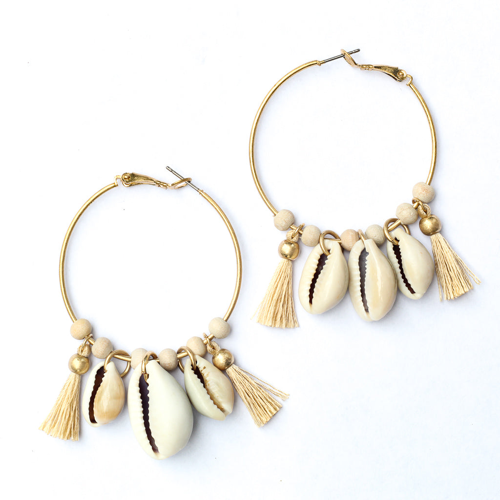 "Earrings 2"" Drop Gold Tone Hardware Lead & Nickel Compliant"