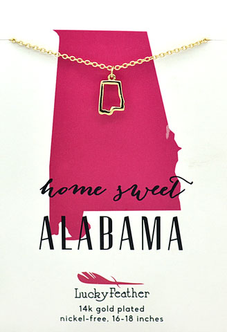 State Necklace Alabama