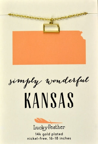 State Necklace Kansas, Gifts - State Love - {a} haley boutique