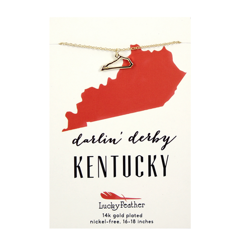 State Necklace Kentucky, Gifts - State Love - {a} haley boutique