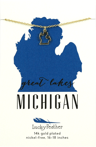 State Necklace Michigan