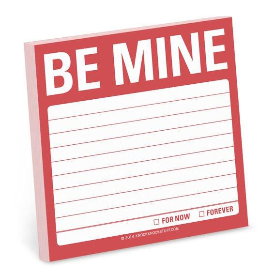 Be Mine Sticky Notes, Gifts - Knock Knock - {a} haley boutique