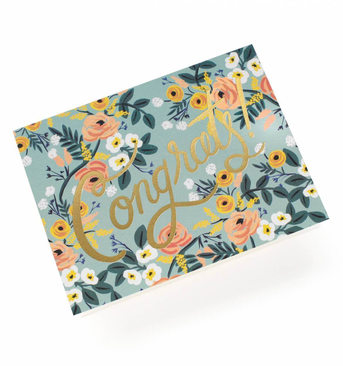 Blue Meadow Congrats Card, Gifts - Rifle - {a} haley boutique