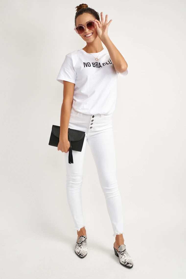 No Bra Club Graphic Tee