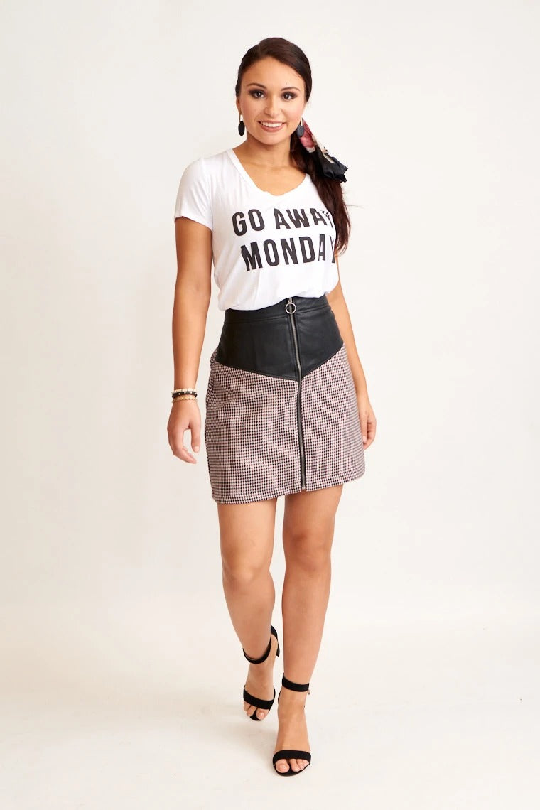 Raquel Houndstooth Skirt