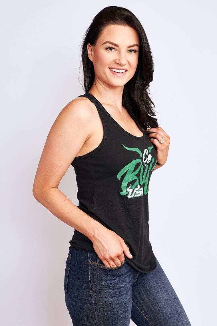 Cheer on your Bulls in South Florida with this fun graphic tank!