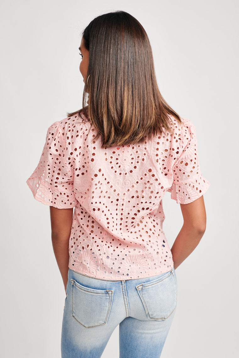 Alysse Eyelet Top