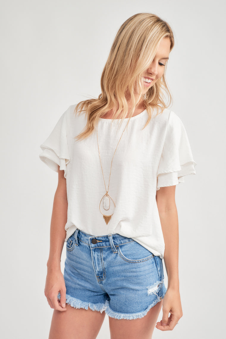 Emersyn Ruffle Sleeve Blouse