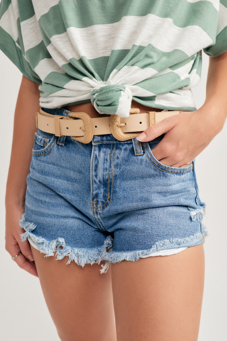 Callie Distressed Shorts