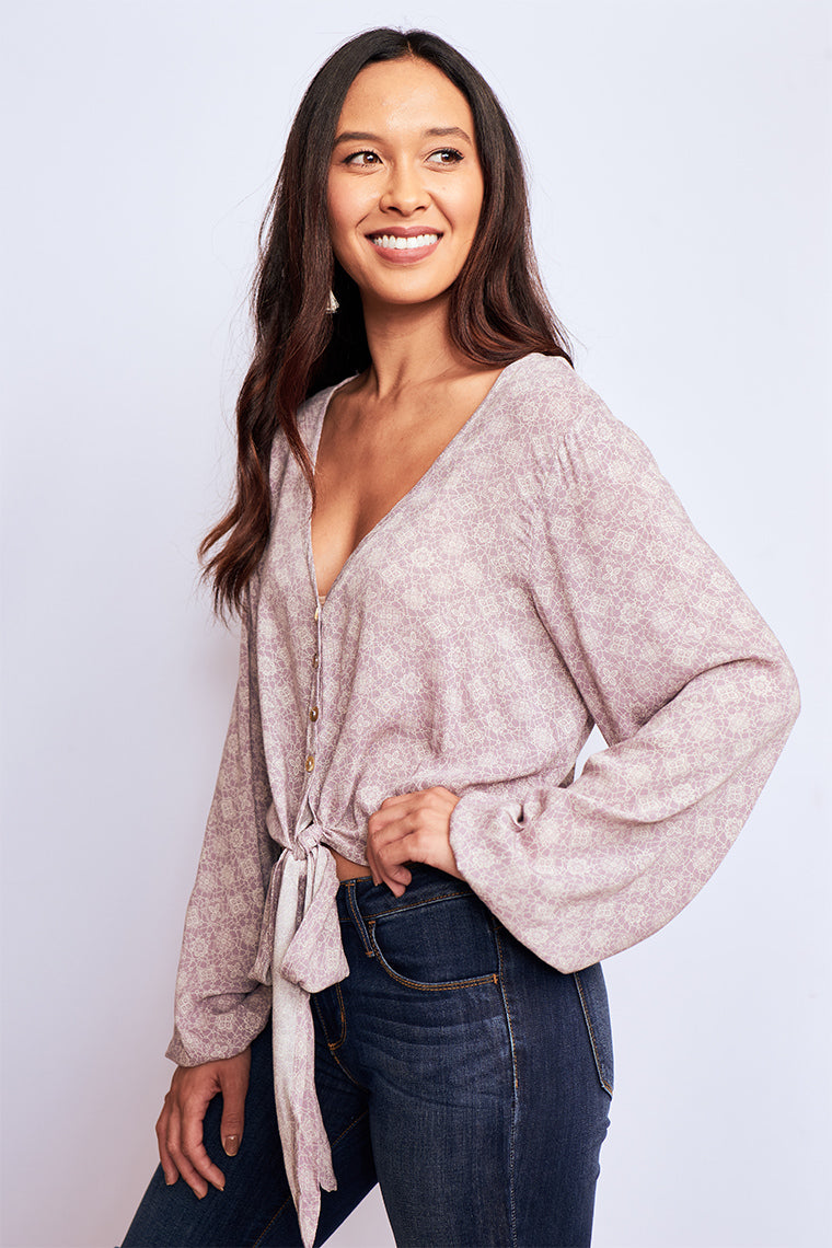 Chance Blouse-Tops- Long Sleeve- {a} Haley Boutique