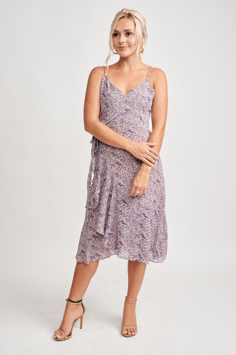 Estefania Floral Wrap Dress