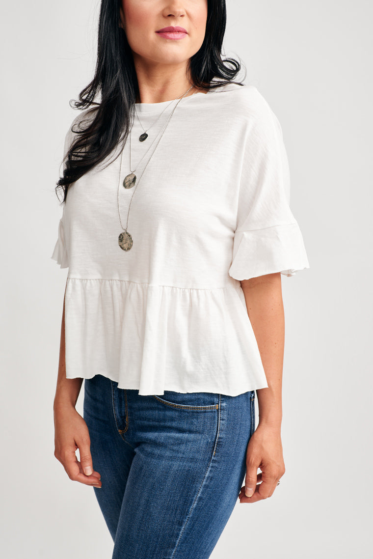 Jonnie Ruffled Top