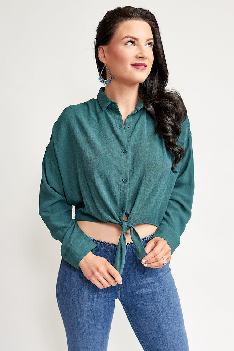Laura Button Up Top