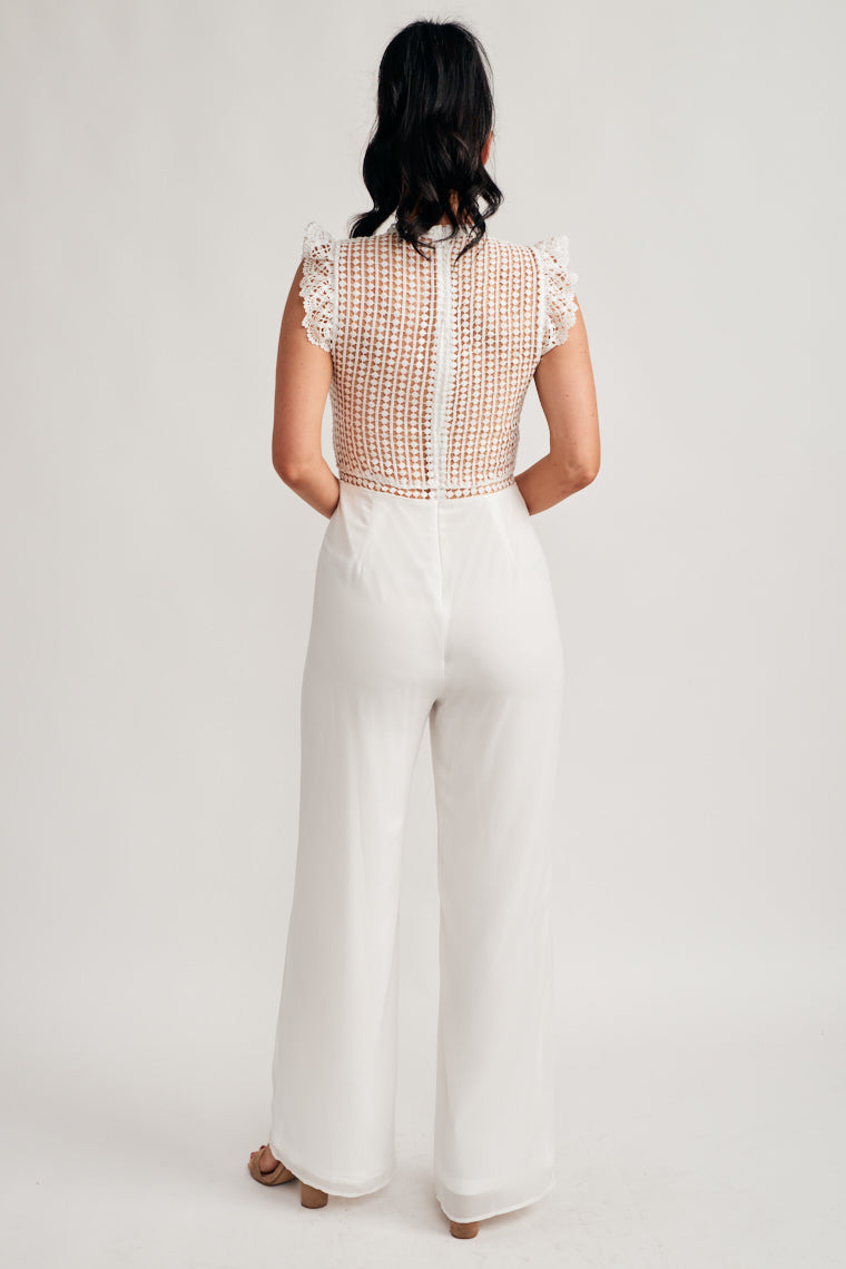 Catelyn Crochet Lace Jumpsuit