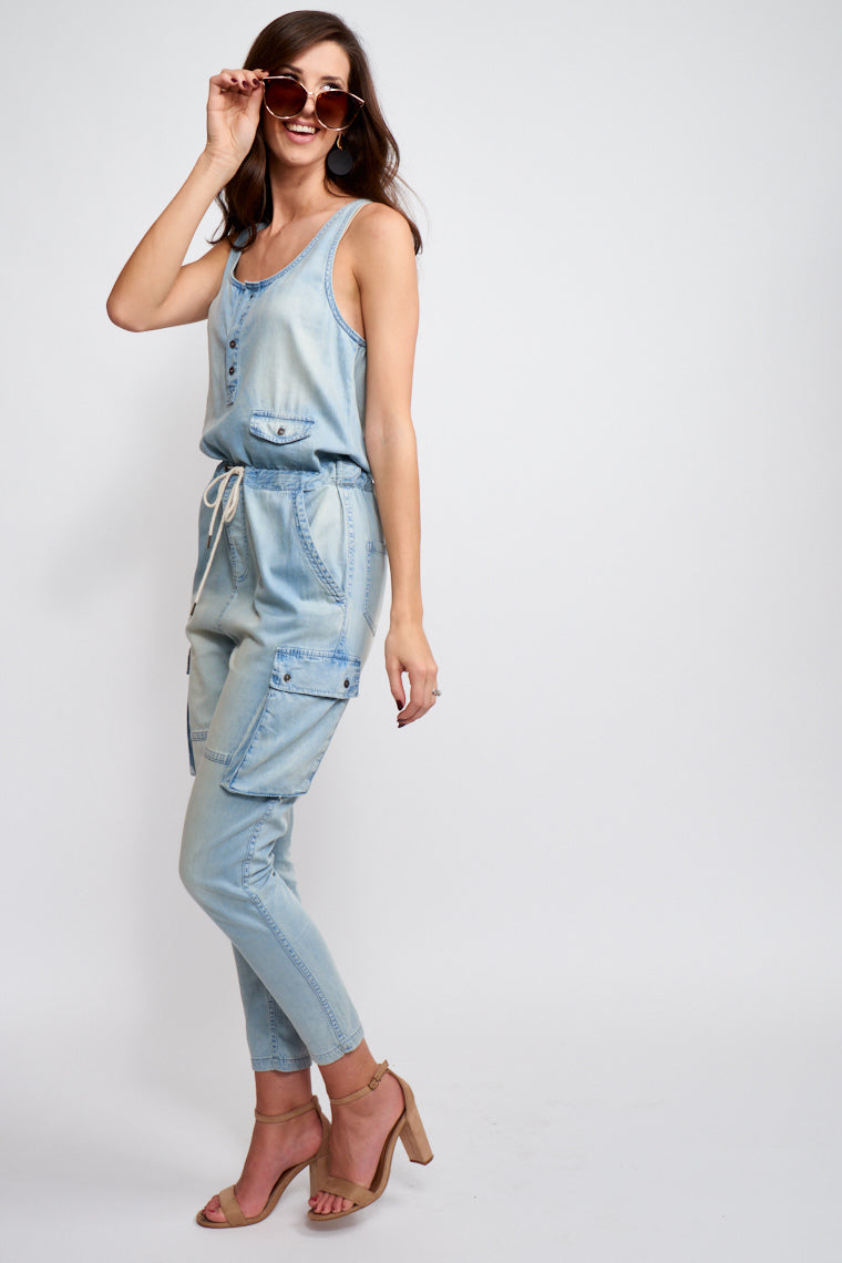Janet Denim Jumpsuit