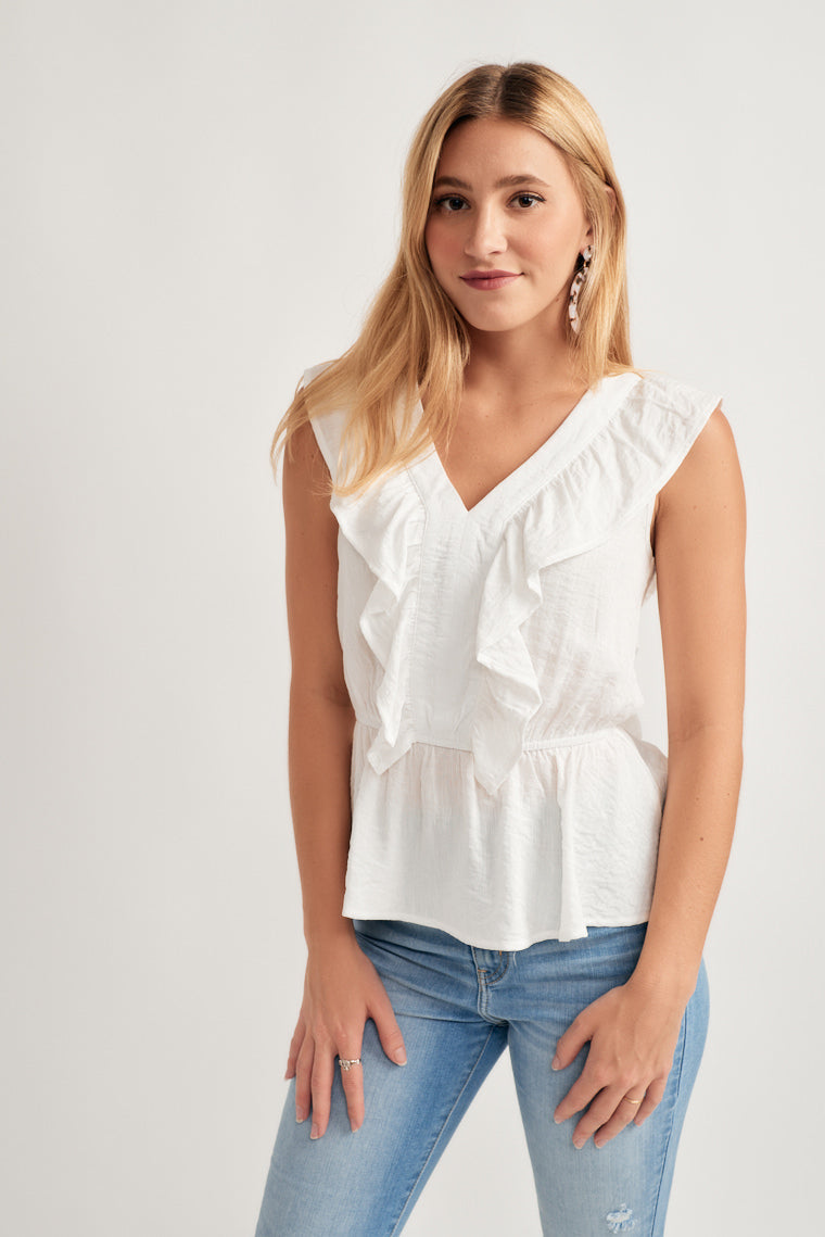 b66b1ad5944e Chantel Ruffle Top - {a} haley boutique
