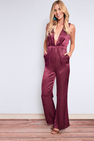 64d273cfbce Ambrosia Satin Jumpsuit-Bottoms- Rompers   Jumpsuits -  a  Haley Boutique