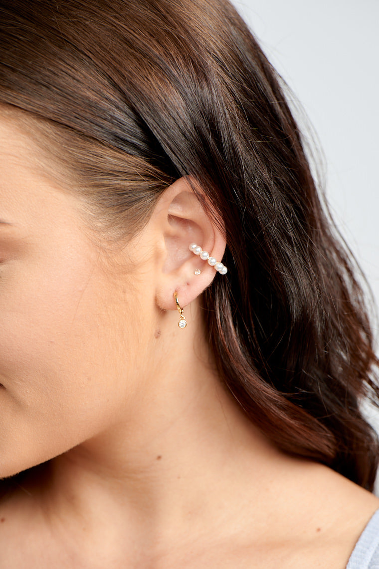 Darla Dainty Drop Huggy Earrings