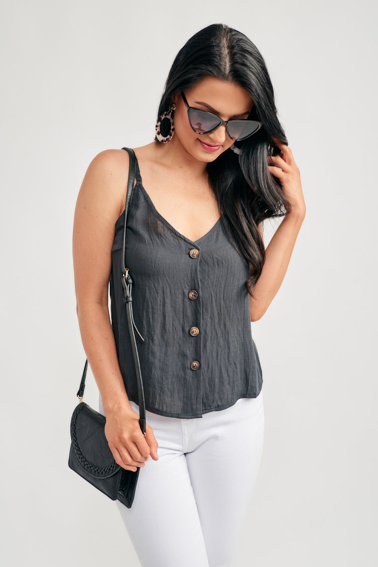 Brooklyn Button Front Tank Top