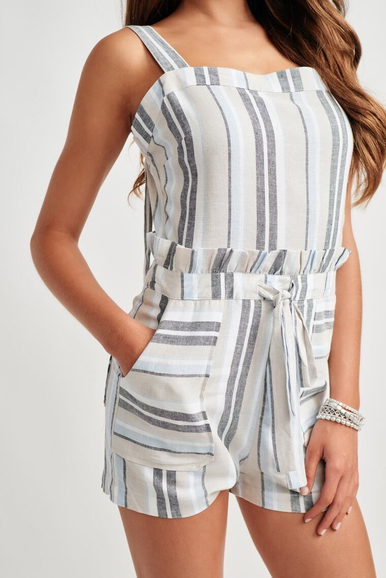 Sawyer Striped Romper