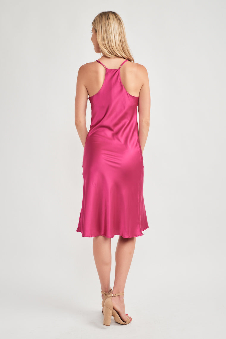 Harmony Satin Midi Dress