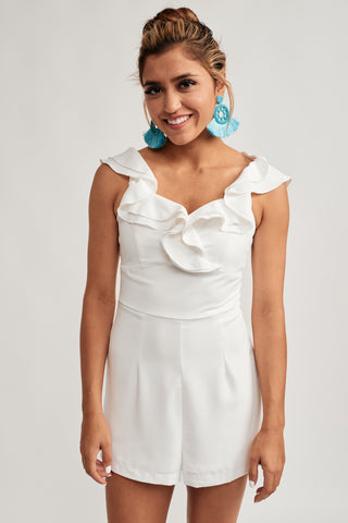 00738deae2 This endearing white romper offers a two-tiered