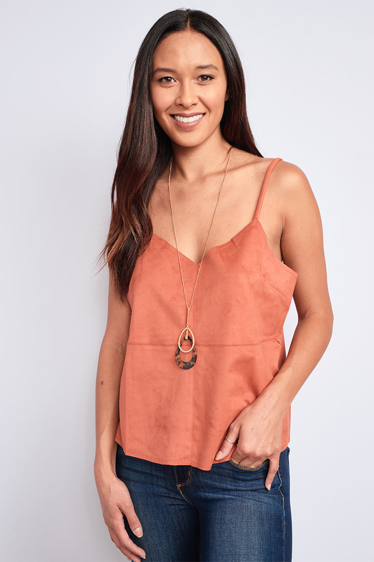 Ginnie Suede Tank-Tops- Sleeveless Sleeve- {a} Haley Boutique