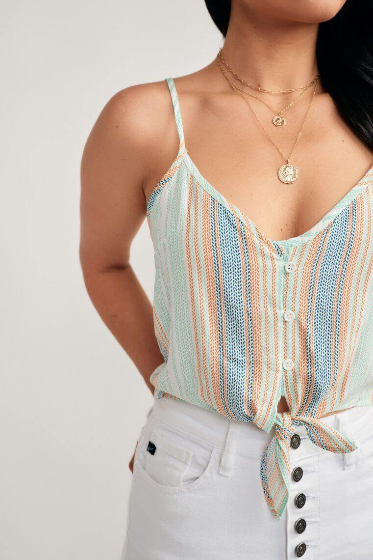 Carinna Striped Crop Top