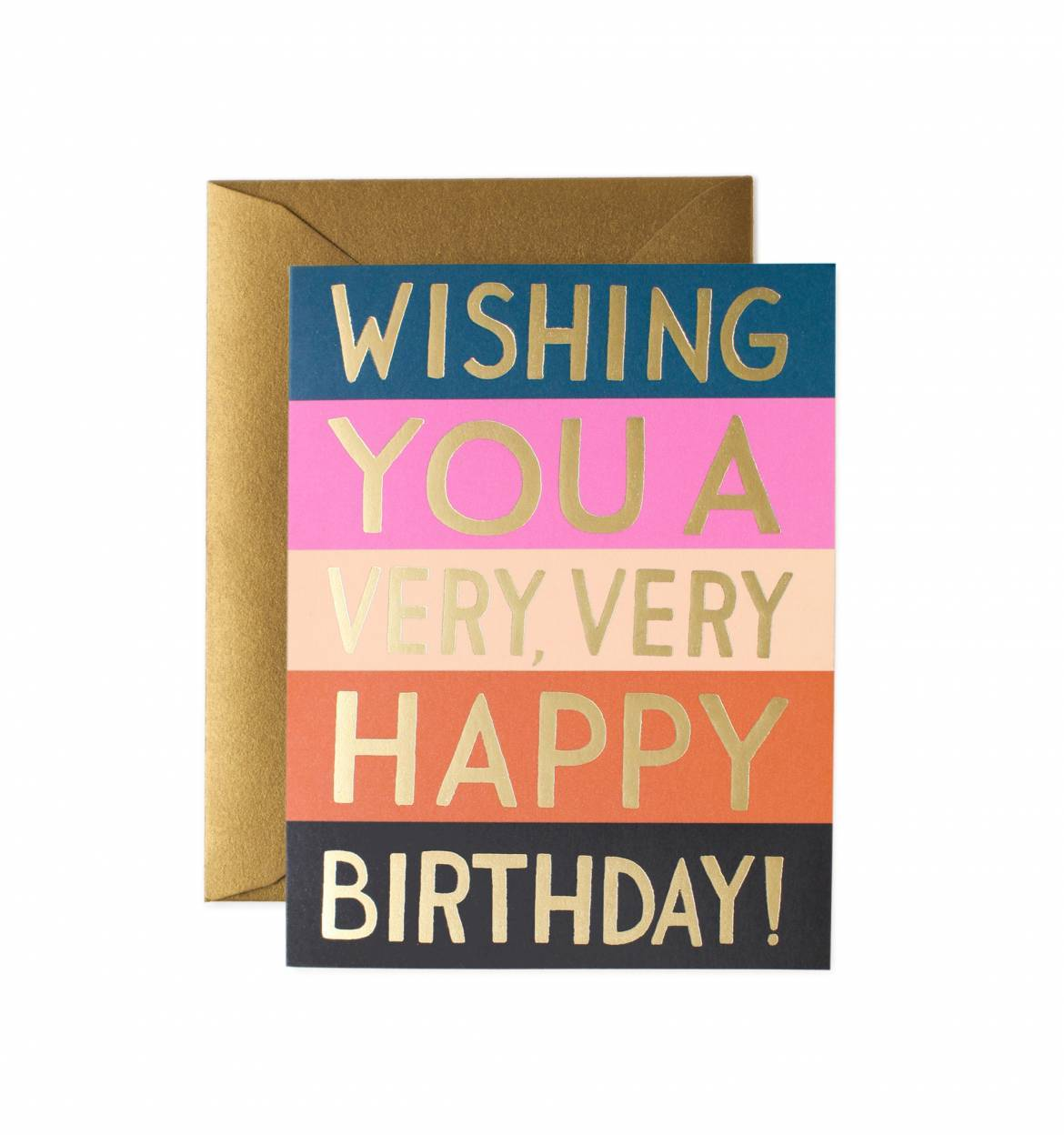 Wish your friends a very happy birthday with this fun Color Block Birthday Card from Rifle Paper Co.